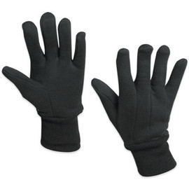 Lined Jersey Cotton Gloves - Large (12 Pairs)