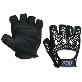 Mesh Backed Lifting Gloves Black - Medium (2 Pairs)