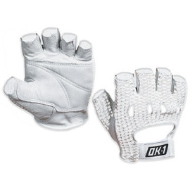 Mesh Backed Lifting Gloves White - Medium (2 Pairs)
