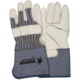 Deluxe Leather Palm Gloves - Medium (12 Pairs)