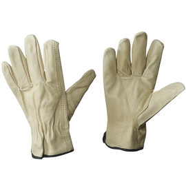 Pigskin Leather Drivers Gloves - Medium (3 Pairs)