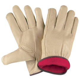 Pigskin Leather Drivers Gloves Lined - Medium (3 Pairs)