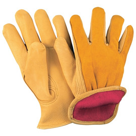 Deerskin Leather Drivers Gloves Lined - Large (3 Pairs)