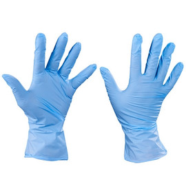 Industrial Grade Nitrile Gloves 4 Mil Exam Grade - Large (100 Gloves)