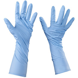 Industrial Grade Nitrile Gloves 6 Mil w/Extended Cuffs - Medium (50 Gloves)