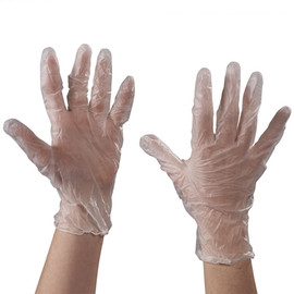 Vinyl Gloves Clear 5 Mil Powdered - Large (100 Gloves)