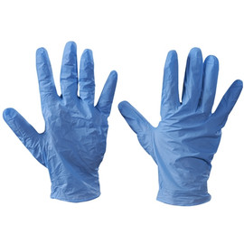 Vinyl Gloves Blue 5 Mil Powder Free - Medium (100 Gloves)