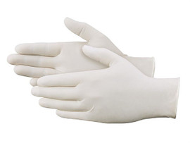Latex Industrial Gloves Powdered - Large (100 Gloves)