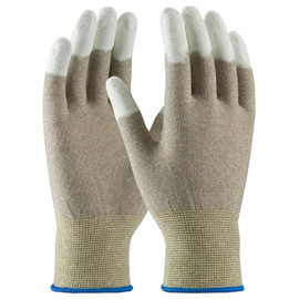 ESD Fingertip Coated Nylon Gloves - Large (12 Pairs)