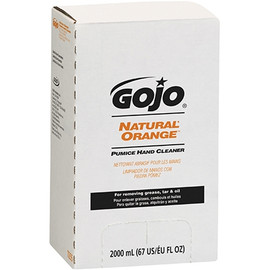 GOJO Natural* Orange Pumice Hand Cleaner Refill Box 2000 ml (4 Per/Pack)