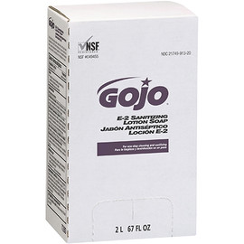 GOJO E-2 Sanitizing Lotion Soap Refill Box 2000 ml (4 Per/Pack)