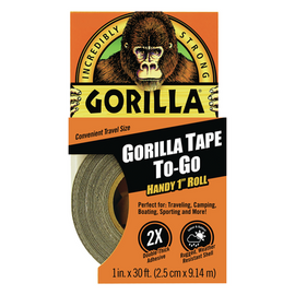 Black Gorilla Tape Handy 1 inch x 30 ft Roll