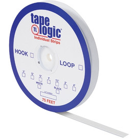 Tape Logic Hook Side White 1/2 inch x 75 ft Roll