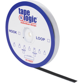 Tape Logic Hook Side Black 5/8 inch x 75 ft Roll