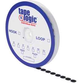 Tape Logic Hook Side Black Dots 1 3/8 inch Roll (600 Dots/Roll)