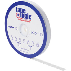 Tape Logic Hook Side White Dots 1 3/8 inch Roll (600 Dots/Roll)