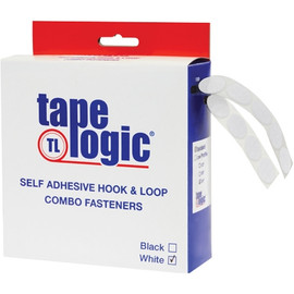 Tape Logic Hook and Loop Combo Packs 1/2 inch White Dots (200 Dots)