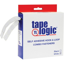 Tape Logic Hook and Loop Combo Packs 3/4 inch White Dots (200 Dots)