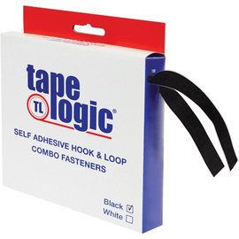 Tape Logic Hook and Loop Combo Packs 1 inch x 15 ft Black Strips