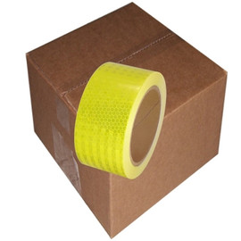 Ultra High Intensity Reflective Tape 2 inch x 30 ft Roll (6 Roll/Pack) Bright Yellow