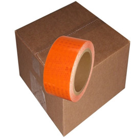 Super Bright High Intensity Reflective Tape 2 inch x 30 ft Roll (6 Roll/Pack) Orange