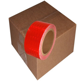 Red Super Bright High Intensity Reflective Tape 2 inch x 30 ft Roll (12 Roll/Pack)