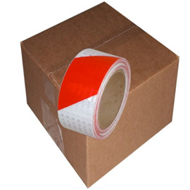 Red/White Super Bright High Intensity Reflective Tape 2 inch x 30 ft Roll (12 Roll/Pack)