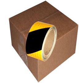 Yellow/Black Super Bright High Intensity Reflective Tape 2 inch x 30 ft Roll (12 Roll/Pack)