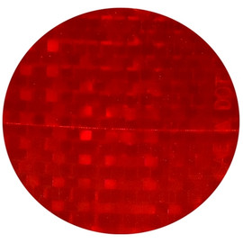 Red Lens Reflectors 3 inch Circle (50 Pack)