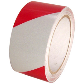 Red/White Hazard Safety Reflective Tape 2 inch x 30 ft Roll