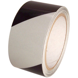 White/Black Hazard Safety Reflective Tape 2 inch x 30 ft Roll