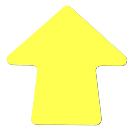 Yellow 4 inch Stick-On Colored Vinyl Directional Arrows (100 per/Roll)