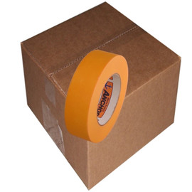 Orange Mask High Temp Premium Paper Masking Tape 1-1/2 inch x 60 yard Roll (24 Roll/Pack)
