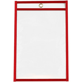 Job Ticket Holders Red 6 inch x 9 inch (25 Per/Pack)