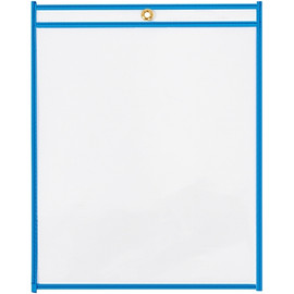 Job Ticket Holders Neon Blue 9 inch x 12 inch (15 Per/Pack)