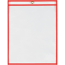 Job Ticket Holders Neon Red 9 inch x 12 inch (15 Per/Pack)