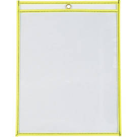Job Ticket Holders Neon Yellow 9 inch x 12 inch (15 Per/Pack)