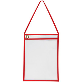Deluxe Job Ticket Holders Red 9 inch x 12 inch (15 Per/Pack)