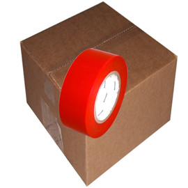 Red 7 mil UV Resistant Polyethylene Film Tape 2 inch x 60 yard Roll (24 Roll/Pack)