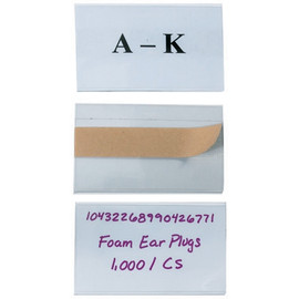 Open-Edge Plastic Label Holders 3 inch x 5 inch (50 Per/Pack)
