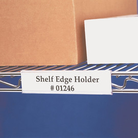 Angled Wire-Rac Snap-On Label Holders 3 inch x 1 5/16 inch (25 Per/Pack)