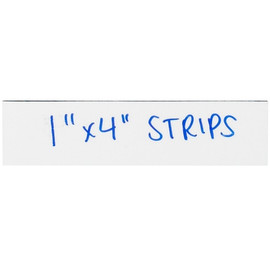 """Magnetic Tape Write On Strips 1 inch x 4 inch (0.03"""") Thick (25 Per/Pack)"""