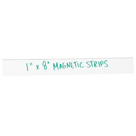 """Magnetic Tape Write On Strips 1 inch x 8 inch (0.03"""") Thick (25 Per/Pack)"""