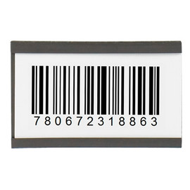 Magnetic C-Channel Cardholders 1 inch x 6 inch (25 Per/Pack)
