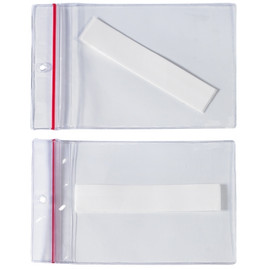 Super-Scan Press-On Reclosable Vinyl Envelopes 4 inch x 6 inch (50 Per/Pack)