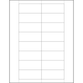 Plastic Label Holder Insert Cards 1 1/4 inch x 3 inch (800 Per/Pack)
