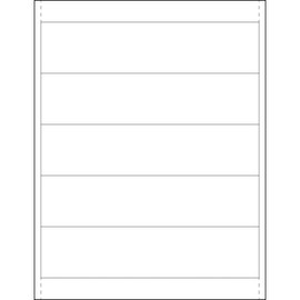 Plastic Label Holder Insert Cards 1 7/8 inch x 8 inch (250 Per/Pack)