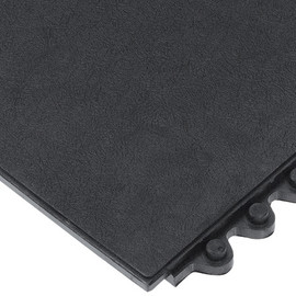 Solid Modular Mat Black 3 ft x 3 ft x 5/8 inch