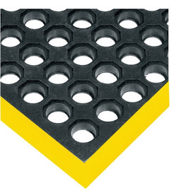 Safety Drainage Mat Black/Yellow 38 inch x 64 inch x 7/8 inch