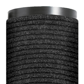 Deluxe Vinyl Carpet Mat Charcoal 4 ft x 6 ft x 3/8 inch